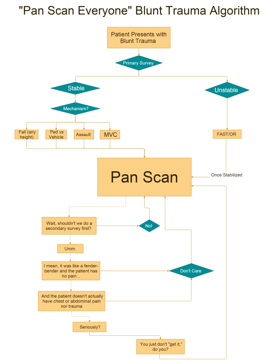 """Pan Scan Everyone"" Blunt Trauma Algorithm"