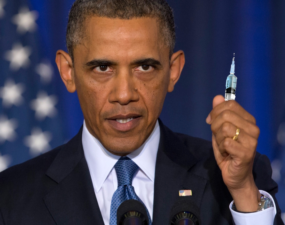 "President Obama's New Policy Announcement: ""No Vaccines=No Narcotics"""